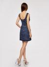 Платье трикотажное без рукавов oodji #SECTION_NAME# (синий), 14005132/42865/7910P - вид 3