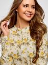 Блузка вискозная А-образного силуэта oodji #SECTION_NAME# (желтый), 21411113B/26346/5052F - вид 4
