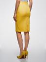 Юбка-карандаш хлопковая oodji для женщины (желтый), 11600387-3/18854/5100N
