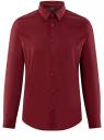 Рубашка базовая приталенная oodji #SECTION_NAME# (красный), 3B140000M/34146N/4502N