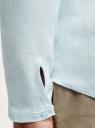 Рубашка льняная без воротника oodji #SECTION_NAME# (зеленый), 3B320002M/21155N/6000N - вид 5