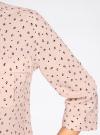 Блузка вискозная с регулировкой длины рукава oodji #SECTION_NAME# (розовый), 11403225-3B/26346/5429G - вид 5