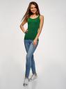 Майка базовая oodji для женщины (зеленый), 14315002B/45308/6E00N