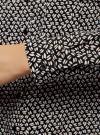 Блузка базовая из вискозы с нагрудными карманами oodji #SECTION_NAME# (черный), 11411127B/26346/2933G - вид 5