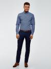Рубашка принтованная из хлопка oodji для мужчины (синий), 3B110027M/19370N/7079G - вид 6