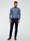 Рубашка принтованная из хлопка oodji #SECTION_NAME# (синий), 3B110027M/19370N/7079G - вид 6