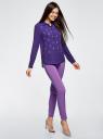 Блузка из струящейся ткани с украшением из страз oodji #SECTION_NAME# (фиолетовый), 11411128/36215/7500N - вид 6