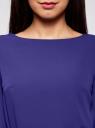 Платье из шифона с ремнем oodji #SECTION_NAME# (синий), 11900150-5B/32823/7500N - вид 4