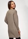 Кардиган удлиненный с карманами oodji для женщины (бежевый), 63212572/18239/3500M - вид 3
