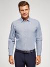 Рубашка приталенная с графичным принтом oodji #SECTION_NAME# (синий), 3L110249M/44425N/1079G - вид 2