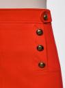 Юбка прямая с декоративными пуговицами oodji #SECTION_NAME# (красный), 21600305/46430/4500N - вид 5