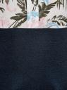 Юбка клеш трикотажная oodji для женщины (синий), 63612030/46096/7900N