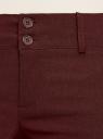 Брюки стретч узкие oodji #SECTION_NAME# (коричневый), 11700212B/14007/4900N - вид 4