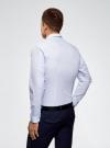 Рубашка принтованная из хлопка oodji для мужчины (синий), 3B110027M/19370N/1078G - вид 3