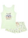 Пижама с шортами принтованная oodji #SECTION_NAME# (зеленый), 56002187-6/47692/6783P