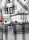 Рубашка клетчатая из вискозы oodji #SECTION_NAME# (белый), 13L11007/47701/1229C - вид 5