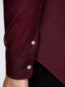 Рубашка приталенная с длинным рукавом oodji #SECTION_NAME# (красный), 3B110011M/34714N/4900N - вид 5