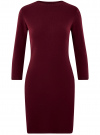 Платье вязаное с рукавом 3/4 oodji для женщины (красный), 63912222-2B/45109/4901N