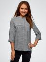 Блузка вискозная с нагрудными карманами oodji #SECTION_NAME# (серый), 11403225-7B/42540/2930G - вид 2