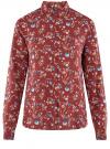 Блузка принтованная из вискозы oodji #SECTION_NAME# (красный), 11411087-1/24681/4970F