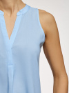 Топ базовый из вискозы oodji для женщины (синий), 14911008-1B/48756/7002N - вид 5