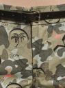 Шорты хлопковые с ремнем oodji для женщины (зеленый), 11806021B/42841/6643O
