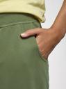 Брюки трикотажные спортивные oodji для женщины (зеленый), 16700030-5B/46173/6900N