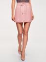 Юбка легкая с завязками oodji для женщины (розовый), 11600378-1/42630/4000N