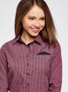 Рубашка принтованная хлопковая oodji #SECTION_NAME# (красный), 11406019-1/38544/7949G - вид 4