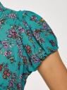 Платье миди с расклешенной юбкой oodji #SECTION_NAME# (бирюзовый), 11913026/36215/7347F - вид 5