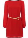 Платье oodji для женщины (красный), 11900150-4/32823/4500N