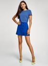 Блузка вискозная свободного силуэта oodji для женщины (синий), 21411119-1/26346/7500N - вид 6