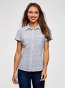 Рубашка хлопковая с нагрудными карманами oodji #SECTION_NAME# (белый), 13L02001B/45510/1279G - вид 2