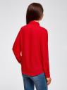 Блузка базовая из струящейся ткани oodji #SECTION_NAME# (красный), 11400368-8B/48854/4500N - вид 3