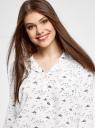 Блузка вискозная с рукавом-трансформером 3/4 oodji для женщины (белый), 11403189-3B/26346/1279O