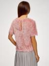 Блузка ворсистая с вырезом-капелькой на спине oodji #SECTION_NAME# (розовый), 14701049/46105/4B01N - вид 3