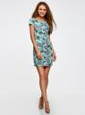 Платье трикотажное с принтом oodji для женщины (зеленый), 14001117-5/45344/654BE