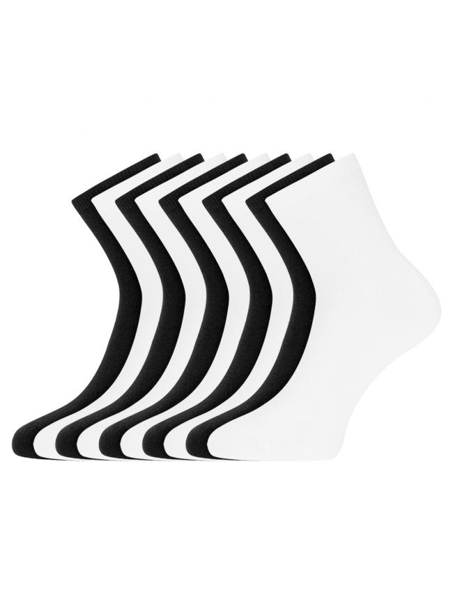 Комплект из десяти пар носков oodji для женщины (разноцветный), 57102466T10/47469/7
