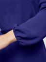 Платье из шифона с ремнем oodji #SECTION_NAME# (синий), 11900150-5B/32823/7500N - вид 5