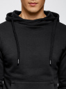 Худи базовая с карманом oodji #SECTION_NAME# (черный), 5B111001M/44119N/2900N - вид 4