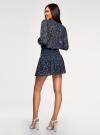 Платье принтованное из шифона oodji #SECTION_NAME# (синий), 11913022/17358/7910E - вид 3