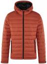 Куртка стеганая с капюшоном oodji #SECTION_NAME# (оранжевый), 1B112009M/25278N/5500N