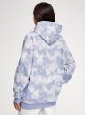 Худи хлопковая оверсайз oodji для женщины (фиолетовый), 15408012/47999/8000T