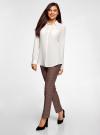 Блузка с нагрудными карманами и регулировкой длины рукава oodji #SECTION_NAME# (белый), 11400355-9B/42807/1200N - вид 6