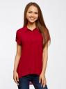 Блузка из вискозы с нагрудными карманами oodji #SECTION_NAME# (красный), 11400391-3B/24681/4500N - вид 2
