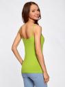 Топ трикотажный на тонких бретелях oodji для женщины (зеленый), 14305023-1B/46147/6B00N