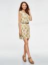 Платье вискозное без рукавов oodji #SECTION_NAME# (желтый), 11910073B/26346/5052F - вид 6