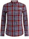 Рубашка принтованная хлопковая oodji #SECTION_NAME# (красный), 11406019/43593/4979C