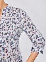 Туника хлопковая на пуговицах oodji для женщины (слоновая кость), 21412068-3/12836/3075F