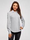 Рубашка хлопковая с нагрудным карманом  oodji #SECTION_NAME# (белый), 13K03013-1/36217/1029D - вид 2